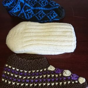 New ethnic slippers and wool socks bundle of 3